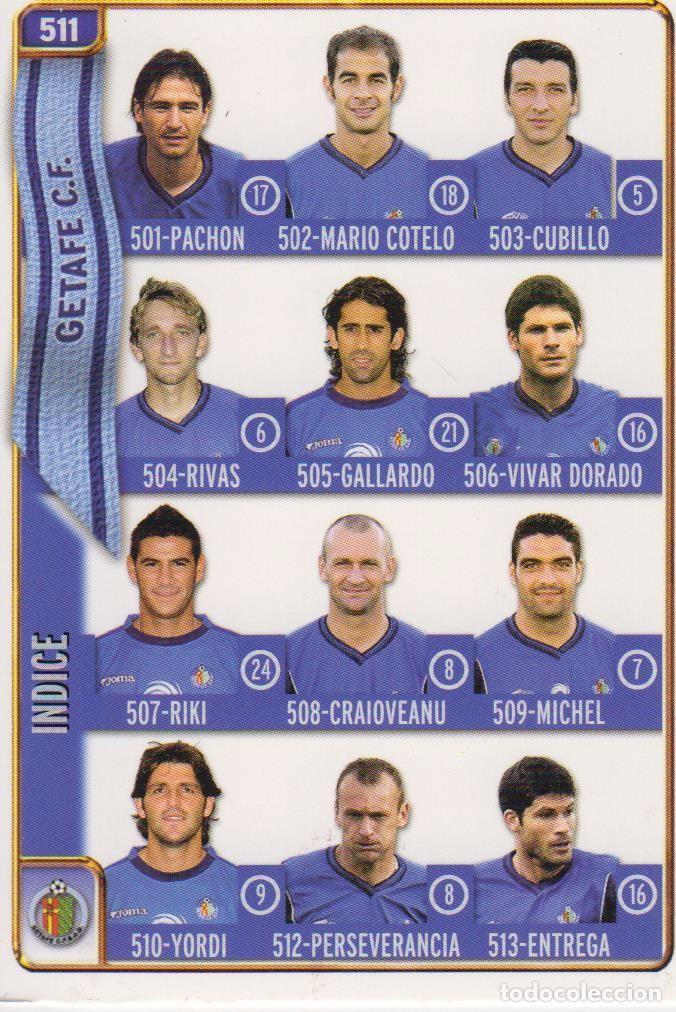 511.- INDICE GETAFE - MUNDICROMO 2005 (MUNDICROMO) (Coleccionismo Deportivo - Álbumes y Cromos de Deportes - Cromos de Fútbol)