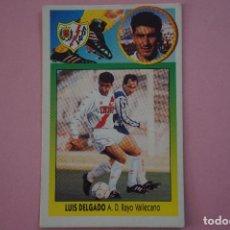 Cromos de Fútbol: CROMO DE FÚTBOL:LUIS DELGADO DEL RAYO VALLECANO,(COLOCA,SIN PEGAR),LIGA ESTE 1993-1994/93-94. Lote 205609123