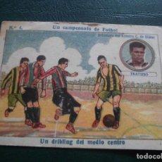 Cromos de Fútbol: CROMOS FUTBOL LIGA CHOCOLATES AMATLLER 1922 - UN CAMPEONATO DE FUTBOL TRAVIESO BILBAO N 4. Lote 66230722