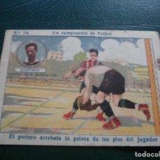 Cromos de Fútbol: CROMOS FUTBOL LIGA CHOCOLATES AMATLLER 1922 - UN CAMPEONATO DE FUTBOL ECHEVESTE IRUN N 14. Lote 66231390