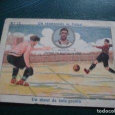 Cromos de Fútbol: CROMOS FUTBOL LIGA CHOCOLATES AMATLLER 1922 - UN CAMPEONATO DE FUTBOL GERMAN SPORTING N 17. Lote 66231850