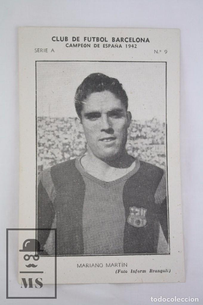 Cromos de Fútbol: Conjunto de 11 Cromos de Fútbol. CF Barcelona. Campeón España 1942 - Serie A - Falta 1 Cromo, Nº 12 - Foto 2 - 67388837