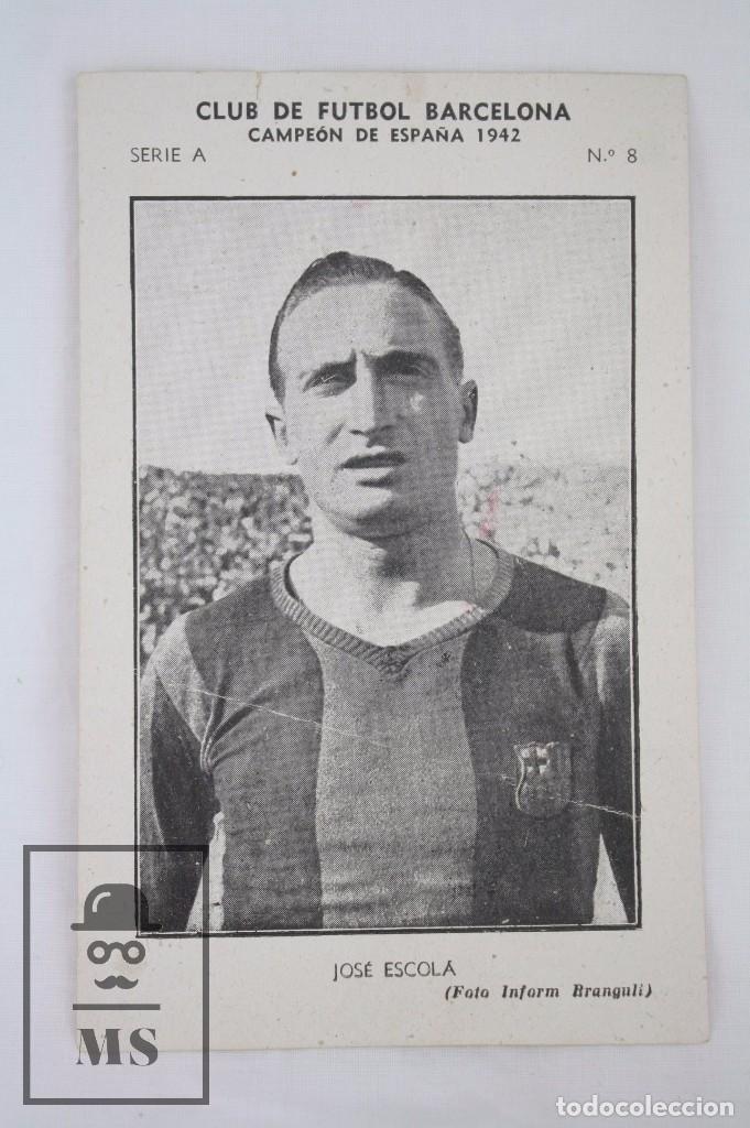 Cromos de Fútbol: Conjunto de 11 Cromos de Fútbol. CF Barcelona. Campeón España 1942 - Serie A - Falta 1 Cromo, Nº 12 - Foto 4 - 67388837