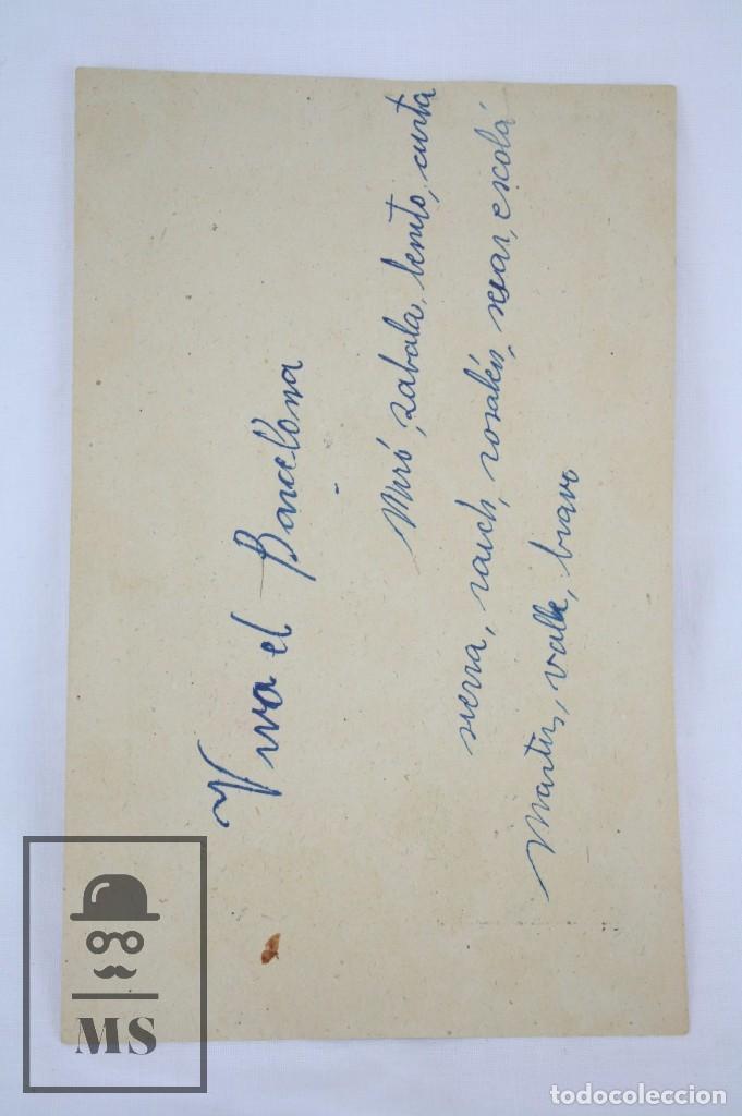 Cromos de Fútbol: Conjunto de 11 Cromos de Fútbol. CF Barcelona. Campeón España 1942 - Serie A - Falta 1 Cromo, Nº 12 - Foto 5 - 67388837