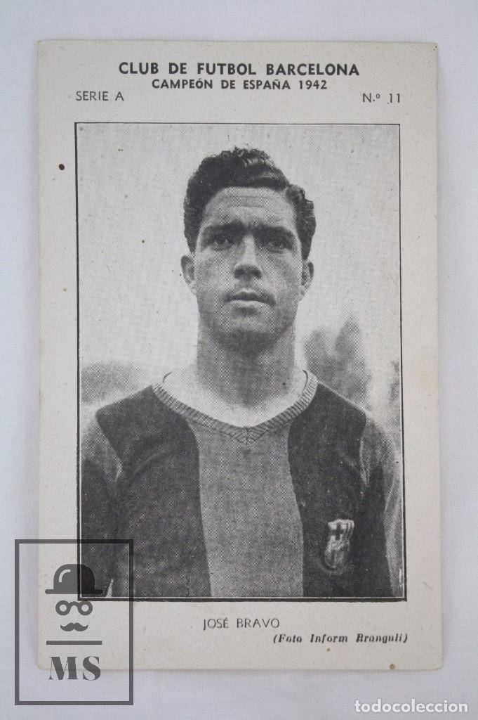Cromos de Fútbol: Conjunto de 11 Cromos de Fútbol. CF Barcelona. Campeón España 1942 - Serie A - Falta 1 Cromo, Nº 12 - Foto 8 - 67388837