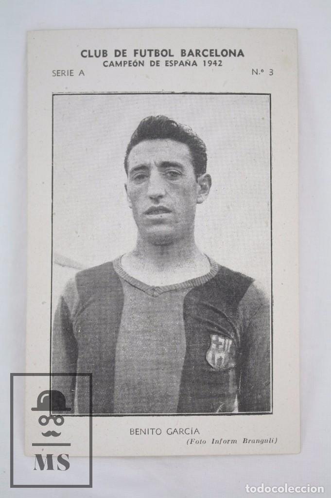Cromos de Fútbol: Conjunto de 11 Cromos de Fútbol. CF Barcelona. Campeón España 1942 - Serie A - Falta 1 Cromo, Nº 12 - Foto 14 - 67388837
