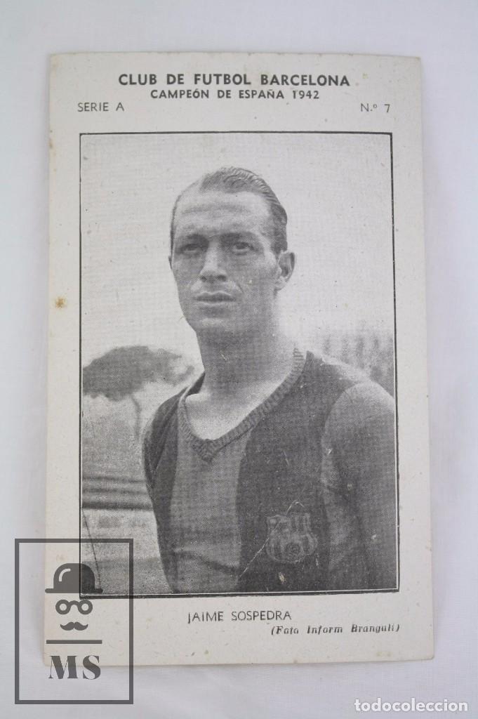Cromos de Fútbol: Conjunto de 11 Cromos de Fútbol. CF Barcelona. Campeón España 1942 - Serie A - Falta 1 Cromo, Nº 12 - Foto 22 - 67388837
