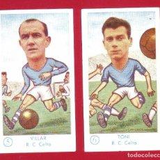 Cromos de Fútbol: FÚTBOL CAMPEONATO 1958-1959 - GRÁFICAS EXCELSIOR - R.C. CELTA - 2 CROMOS. Lote 36290212