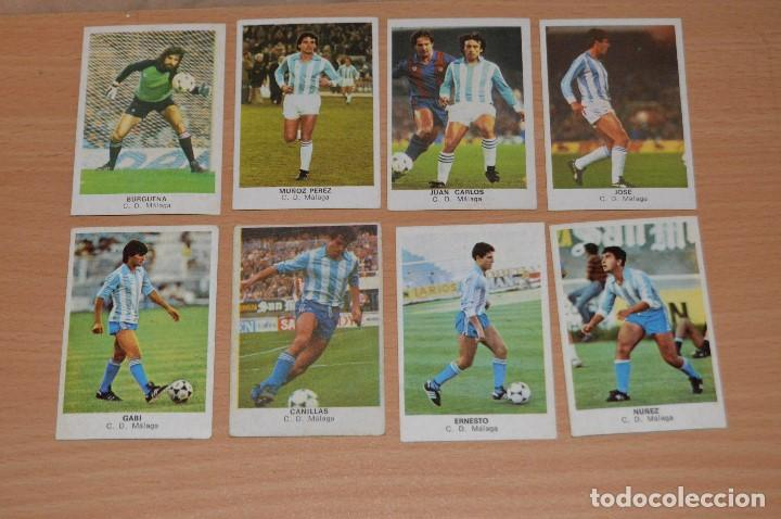 LOTE 8 CROMOS - MALAGA CF - CROMOS CANO - FUTBOL 84 - NUNCA PEGADOS - MIRA LAS FOTOS (Coleccionismo Deportivo - Álbumes y Cromos de Deportes - Cromos de Fútbol)