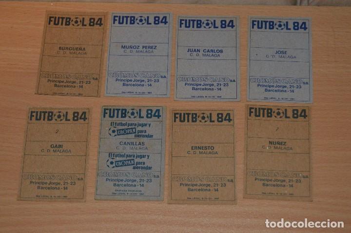 Cromos de Fútbol: LOTE 8 CROMOS - MALAGA CF - CROMOS CANO - FUTBOL 84 - NUNCA PEGADOS - MIRA LAS FOTOS - Foto 2 - 67543097
