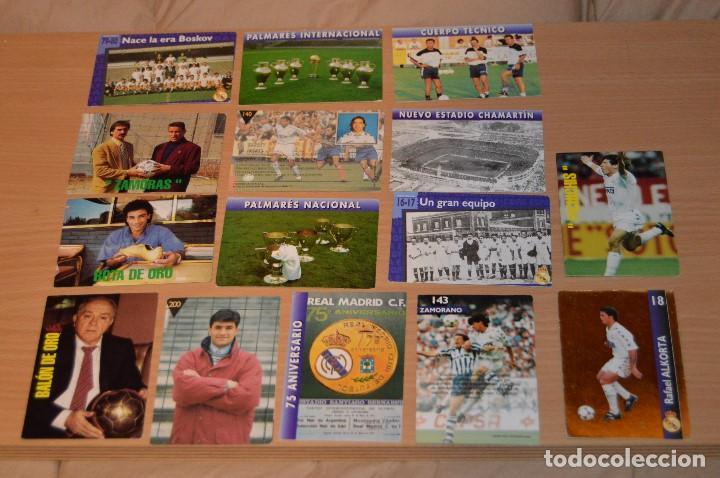 LOTE DE 15 CARTAS REAL MADRID - MAGIC BOX INTERNATIONAL - TEMPORADA 79 80 - MIRA LAS FOTOS (Coleccionismo Deportivo - Álbumes y Cromos de Deportes - Cromos de Fútbol)