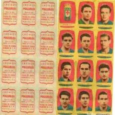 Cromos de Fútbol: OVIEDO 2º DIVISION, DEAZAFRAN LOS POLLUELOS, 1954-55.. Lote 68142985