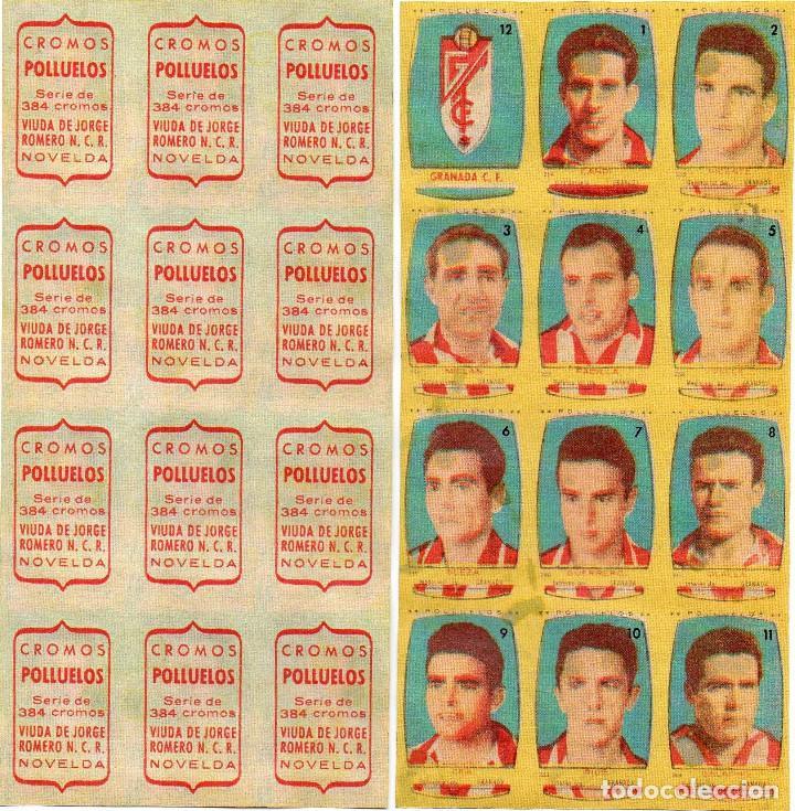 GRANADA 2º DIVISION, DE CONDIMENTOS LOS POLLUELOS 1954-55. (Coleccionismo Deportivo - Álbumes y Cromos de Deportes - Cromos de Fútbol)