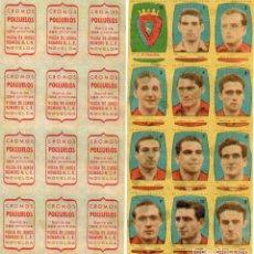 Cromos de Fútbol: OSASUNA 2º DIVISION, DE CONDIMENTOS LOS POLLUELOS 1954-55.. Lote 68144121