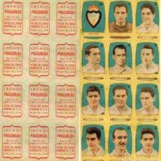 Cromos de Fútbol: JAEN 25 DIVISION, DE CONDIMENTOS LOS POLLUELOS 1954-55.. Lote 68144325