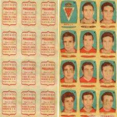 Cromos de Fútbol: MURCIA 2º DIVISION, DE CONDIMENTOS LOS POLLUELOS 1954-55.. Lote 68145533