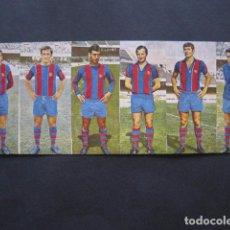 Cromos de Fútbol: CARTON CON 6 CROMOS DEL F.C. BARCELONA UNIDOS -VER FOTOS -(V-7836). Lote 69113885