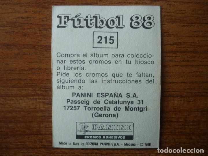 Cromos de Fútbol: CROMO FUTBOL 88 PANINI Nº 215 ESCUDO (MALLORCA) - SIN PEGAR - LIGA 1988 - Foto 2 - 70111069