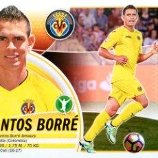 Cromos de Fútbol: SANTOS BORRE - 16 BIS - CORREGIDO CON ESCUDO - VILLARREAL C.F. - EDICIONES ESTE LIGA 16 17 2016 2017. Lote 253177215