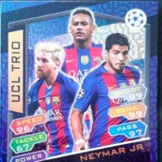 Cromos de Fútbol: TRIO1 NEYMAR MESSI SUAREZ - F.C. BARCELONA - UCL TRIO TOPPS UEFA CHAMPIONS LEAGUE MATCH ATTAX 16 17. Lote 70529001