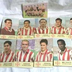 Cromos de Fútbol: ATLETICO DE MADRID AÑO 1950, COMPLETO 12 POSTALES CROMO DE BAYER. MED. 14 X 9 CM. Lote 72431883