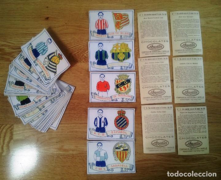 COLECCION COMPLETA DE 50 CROMOS DE CHOCOLATES AMATLLER. AÑO 1929 (Coleccionismo Deportivo - Álbumes y Cromos de Deportes - Cromos de Fútbol)