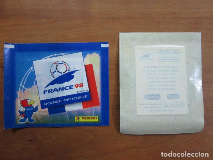 SOBRE SIN ABRIR PANINI FRANCIA 98 FRANCE 1998 MUNDIAL - PROMOCIONALES DANONE - LA SERENISIMA (Coleccionismo Deportivo - Álbumes y Cromos de Deportes - Cromos de Fútbol)