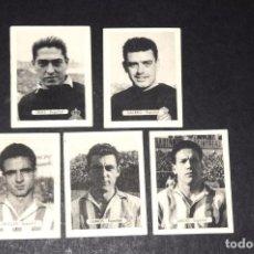 Cromos de Fútbol: RCD ESPAÑOL. LOTE DE 5 CROMOS. ORIGINALES. NUNCA PEGADOS. AÑOS 1950S. Lote 73919363