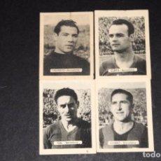 Cromos de Fútbol: BARCELONA CF. LOTE DE 4 CROMOS. ORIGINALES. NUNCA PEGADOS. AÑOS 1950S. Lote 73919587