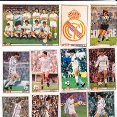 Cromos de Fútbol: ASES DE LA LIGA 1986/ 87, LOTE DE DOCE CROMOS, REAL MADRID. DIARIO DEPORTIVO AS. Lote 75104271