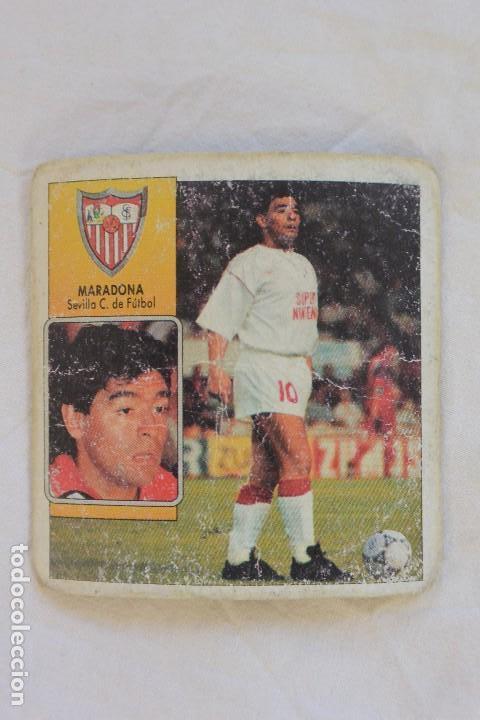 CROMO FUTBOL CROMOS ESTE COLOCA MARADONA SEVILLA F.C. 92-93 (Coleccionismo Deportivo - Álbumes y Cromos de Deportes - Cromos de Fútbol)
