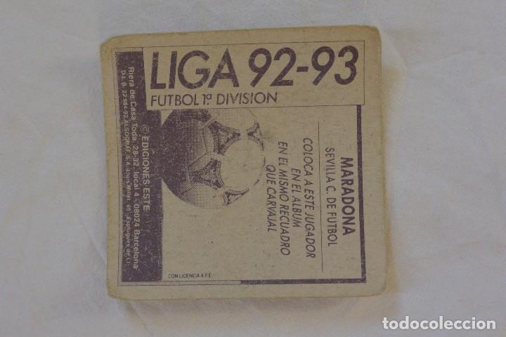 Cromos de Fútbol: CROMO FUTBOL CROMOS ESTE COLOCA MARADONA SEVILLA F.C. 92-93 - Foto 2 - 75148419