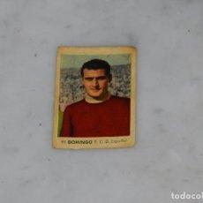Cromos de Fútbol: RCD ESPAÑOL - 91 DOMINGO - CAMPEONATOS NACIONALES DE FUTBOL 1956, RUIZ ROMERO, SIN PEGAR. Lote 180011810