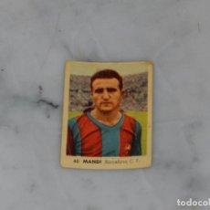 Cromos de Fútbol: FC BARCELONA - 60 MANDI - CAMPEONATOS NACIONALES DE FUTBOL 1956, RUIZ ROMERO, SIN PEGAR. Lote 180012010