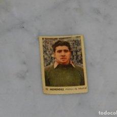 Cromos de Fútbol: AT MADRID - 32 MENENDEZ - CAMPEONATOS NACIONALES DE FUTBOL 1956, RUIZ ROMERO, SIN PEGAR. Lote 180011962
