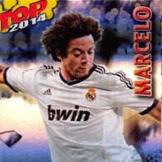 Cromos de Fútbol: MUNDICROMO 2014 #581 MARCELO (REAL MADRID) (FONDO AZUL RAYAS). Lote 75675803
