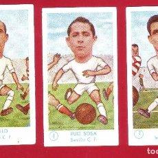 Cromos de Fútbol: FÚTBOL CAMPEONATO 1958-1959 - GRÁFICAS EXCELSIOR - SEVILLA C.F. - 3 CROMOS. Lote 75677519