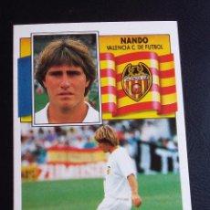 Cromos de Fútbol: ESTE 90/91 1990 1991 - NANDO - VALENCIA C.F. ( NUNCA PEGADO ). Lote 75745099