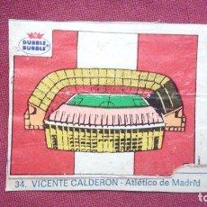Cromos de Fútbol: DUBBLE BUBBLE FUTBOL MUNDIAL ESTADIO VICENTE CALDERON AT. MADRID. Lote 75797971