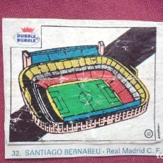 Cromos de Fútbol: DUBBLE BUBBLE FUTBOL MUNDIAL ESTADIO SANTIAGO BERNABEU REAL MADRID. Lote 75798043