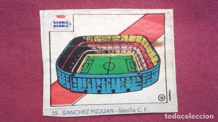 DUBBLE BUBBLE FUTBOL MUNDIAL ESTADIO SANCHEZ PIZJUAN SEVILLA (Coleccionismo Deportivo - Álbumes y Cromos de Deportes - Cromos de Fútbol)
