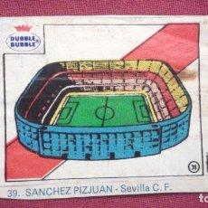 Cromos de Fútbol: DUBBLE BUBBLE FUTBOL MUNDIAL ESTADIO SANCHEZ PIZJUAN SEVILLA. Lote 75798131