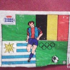 Cromos de Fútbol: DUBBLE BUBBLE FUTBOL MUNDIAL CAMPEONES OLÍMPICO BELGICA 1920 URUGUAY 1924-1928. Lote 75798311