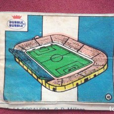 Cromos de Fútbol: DUBBLE BUBBLE FUTBOL MUNDIAL ESTADIO LA ROSALEDA MALAGA. Lote 75798411