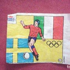 Cromos de Fútbol: DUBBLE BUBBLE FUTBOL MUNDIAL CAMPEONES OLÍMPICO ITALIA 1936 SUECIA 1948. Lote 75798551