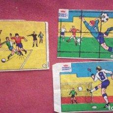Cromos de Fútbol: DUBBLE BUBBLE FUTBOL MUNDIAL LOTE 3 CROMOS PENALTY GOL. LEER. Lote 75798639