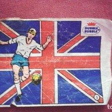 Cromos de Fútbol: DUBBLE BUBBLE FUTBOL MUNDIAL CAMPEONES DE LA COPA DEL MUNDO INGLATERRA 1966. Lote 75798847