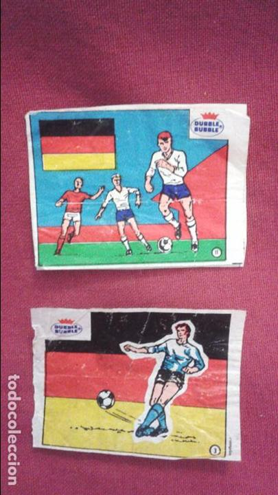 DUBBLE BUBBLE FUTBOL MUNDIAL CAMPEONES DE LA COPA DEL MUNDO ALEMANIA 1954 1974 Y COPA EUROPA 1972 80 (Coleccionismo Deportivo - Álbumes y Cromos de Deportes - Cromos de Fútbol)