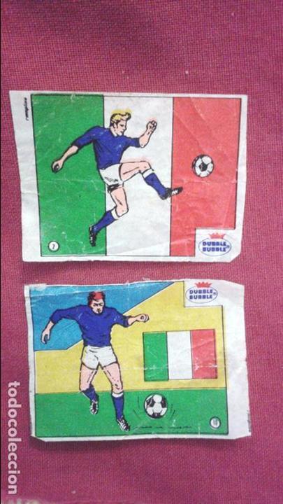 DUBBLE BUBBLE FUTBOL MUNDIAL CAMPEONES DE LA COPA DEL MUNDO ITALIA 1934 1938 Y COPA EUROPA 1968 (Coleccionismo Deportivo - Álbumes y Cromos de Deportes - Cromos de Fútbol)