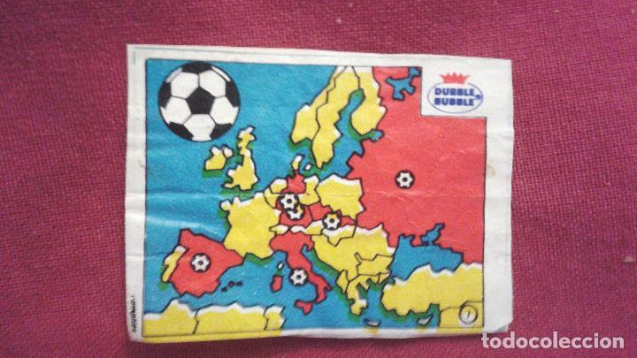 DUBBLE BUBBLE FUTBOL MUNDIAL CAMPEONES DE LA COPA DE EUROPA DE NACIONES MAPA DE PAÍSES (Coleccionismo Deportivo - Álbumes y Cromos de Deportes - Cromos de Fútbol)